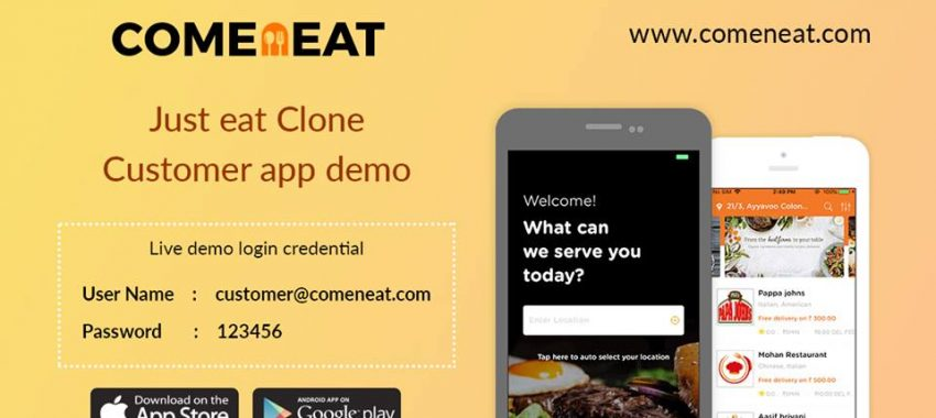 Comeneat – Online Food Ordering Solution with Scripts Like JustEat